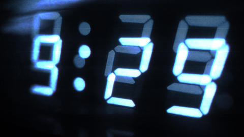 4K Digital Clock Turn to 9 30 Futuristic Design 1 Footage