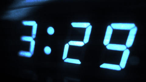 4K Digital Clock Turns to 3 30 Sci Fi Design 1 Footage