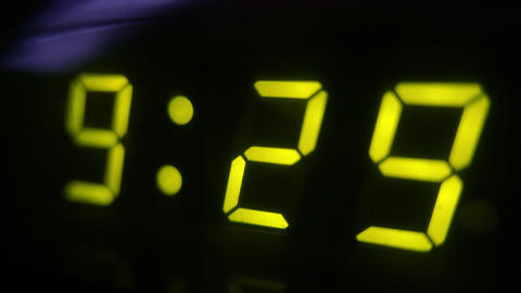 4K Digital Clock Turn to 9 30 Footage
