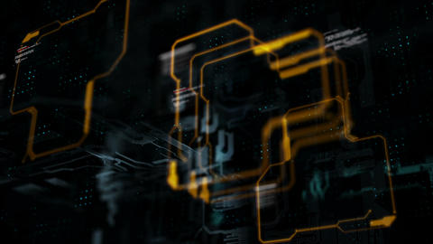 4K Abstract background circuit electronic line for technology concept with shallow depth of field Footage