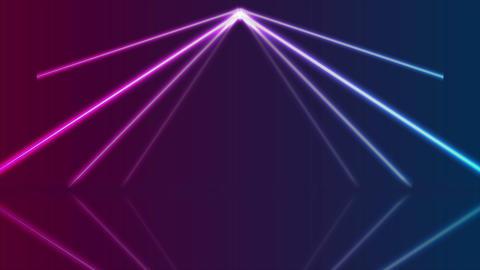 Blue ultraviolet neon laser lines video animation CG動画素材