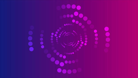Abstract blue purple halftone circles video animation Animation