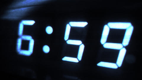 4K Digital Alarm at 7 Futuristic Design 1 Footage