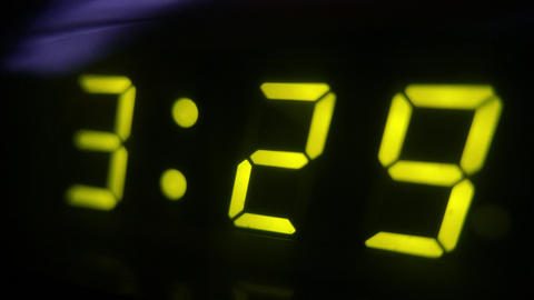 4K Digital Clock Turns to 3 30 Footage