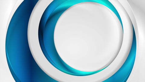 Blue and grey abstract glossy circles video animation Animation