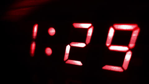 4K Digital Clock Turns to 1 30 Sci Fi Design 1 Footage