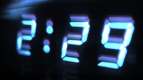 4K Digital Clock Turns to 2 30 Sci Fi Design 1 Footage
