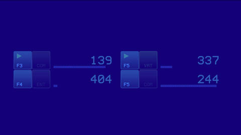 business software interface & numbers Animation