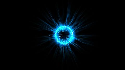 blue flare ball & fiber optic laser,flying... Stock Video Footage