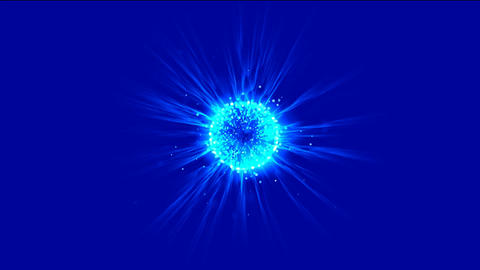 blue flare ball & fiber optic laser,flying... Stock Video Footage