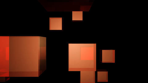 orange cube Stock Video Footage