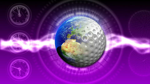 Golf World Background 48 (HD) stock footage