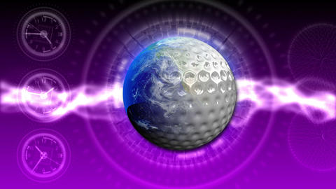 Golf World Background 48 (HD) Stock Video Footage