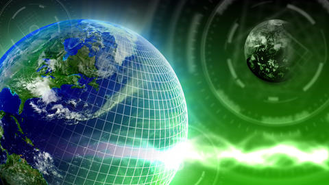 Luxury Spinning Earth Background 83 (HD) Stock Video Footage