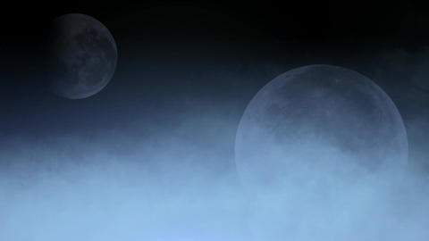 cloud cover moon,fairyland,celestial body Animation