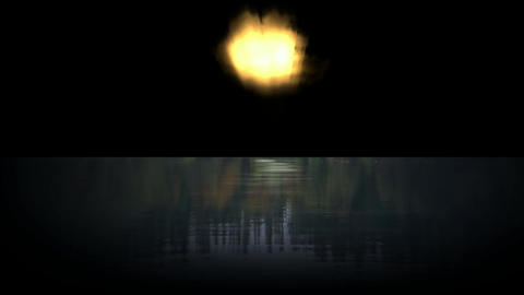fireball reflection in the sea Stock Video Footage