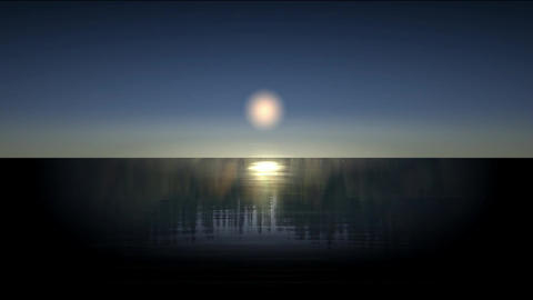 Moon reflection in the sea Stock Video Footage