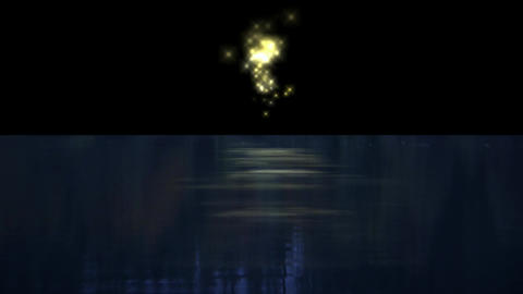signal bomb & fireworks reflection in the sea Stock Video Footage