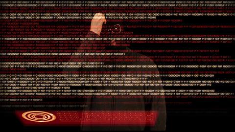Hacker Breaking System 13 Stock Video Footage
