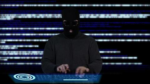 Hacker Breaking System Fail 3 Stock Video Footage