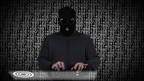 Hacker Breaking System Fail 5 Stock Video Footage