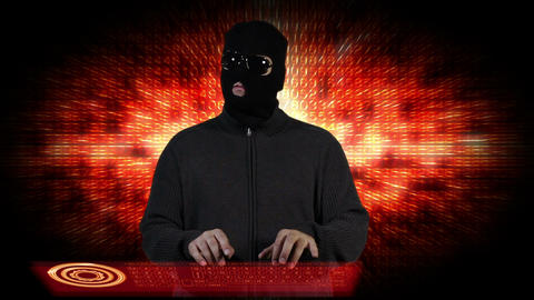 Hacker Breaking System Fail 7 Stock Video Footage