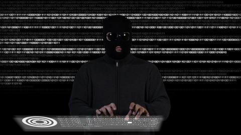 Hacker Breaking System Success 1 Stock Video Footage