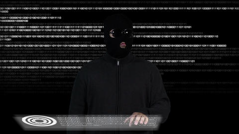 Hacker Breaking System Success 1 Stock Video Footage