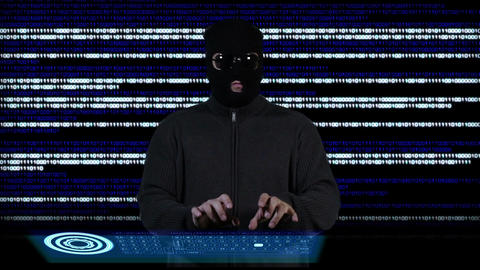Hacker Breaking System Success 3 Stock Video Footage