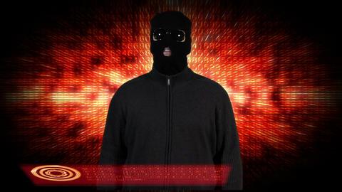 Hacker Breaking System Success 7 Stock Video Footage