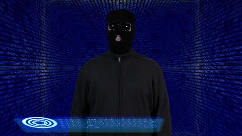 Hacker Breaking System Success Tunnel Design 2 Stock Video Footage