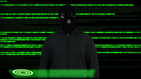 Hacker Breaking System Thinking 2 Footage