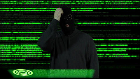 Hacker Breaking System Thinking 2 Stock Video Footage
