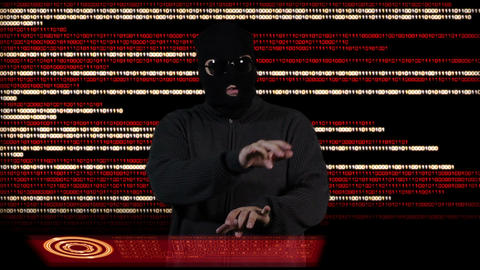 Hacker Breaking System Thinking 4 Stock Video Footage