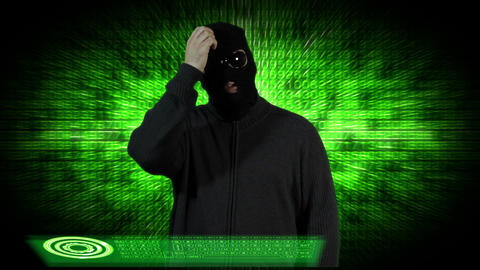Hacker Breaking System Thinking 6 Stock Video Footage