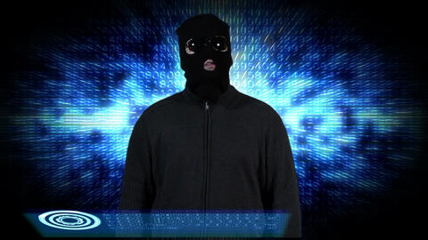 Hacker Breaking System Thinking 8 Stock Video Footage