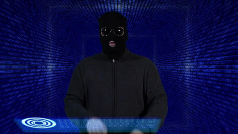 Hacker Breaking System Thinking Tunnel Design 2 Stock Video Footage
