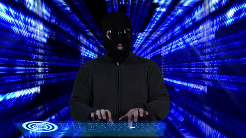 Hacker Breaking System Thinking Tunnel Design 6 Stock Video Footage