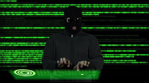 Hacker Working Hard 2 Stock Video Footage