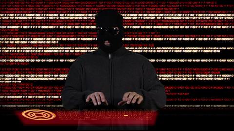 Hacker Working Hard 4 Stock Video Footage