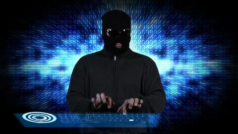 Hacker Working Hard 8 Stock Video Footage