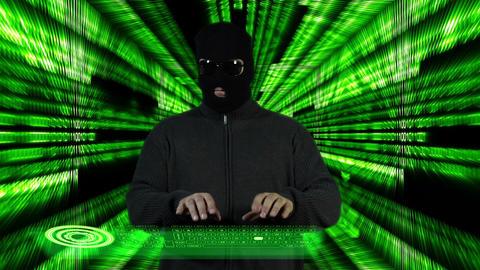 Hacker Working Hard Tunnel Design 5 Stock Video Footage