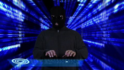 Hacker Working Hard Tunnel Design 7 Stock Video Footage
