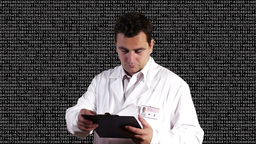 Scientist Checking Documents Decimal Numbers Background 2 Stock Video Footage