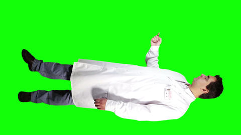 Young Doctor Scientist Full Body Presentation GS 24 Stock Video Footage
