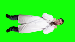 Young Doctor Scientist Full Body Very Happy GS 28 Stock Video Footage
