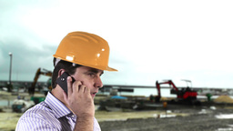 Young Engineer Construction Site 2 Stock Video Footage