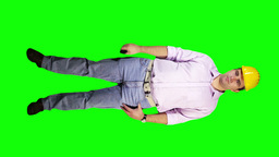 Young Engineer Phone Bad News Full Body Greenscreen 28 Stock Video Footage