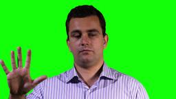 Young Man Touchscreen Closeup GS 20 Stock Video Footage