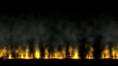 Fire wall,oilfield,military war battlefield Stock Video Footage